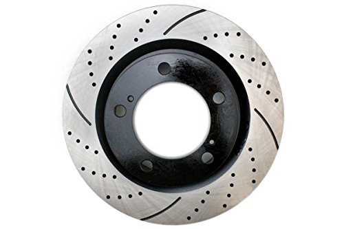 Prime Choice Auto Parts PR41484L Front Drivers Side Performance Drilled And Slotted Brake Rotor