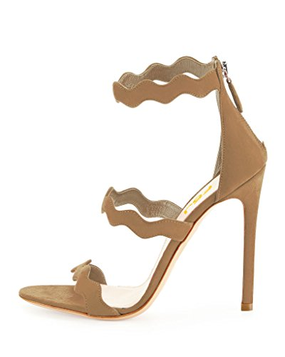 FSJ Women Hot Open Toe Strappy Heeled Sandals Suede Dress Shoes For Party Size 4-15 US Peru discount Inexpensive popular for sale clearance store cheap sale websites 463TeT