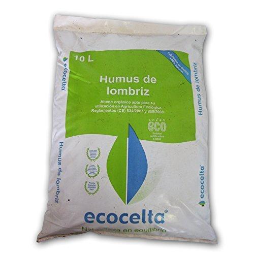 Ecocelta Humus de lombriz 10 l, Negro, ZA32: Amazon.es: Jardín