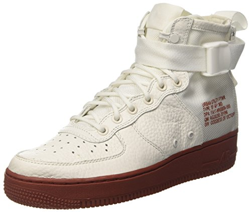 Nike Mens SF Air Force 1 Mid Shoes Ivory/Mars Stone/Ivory 10 D(M) US Air Force 1 Mid Shoes