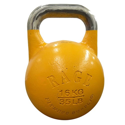 RAGE Fitness Competition Kettlebell - 16 kg / 35 lbs - Yellow
