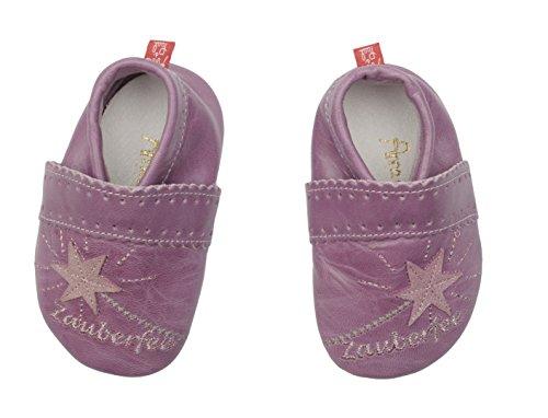 Anna y Paul bebé con diseño de con suela de goma Zauberfee colour lila - 1209 morado lila Talla:18-19 EU / S lila