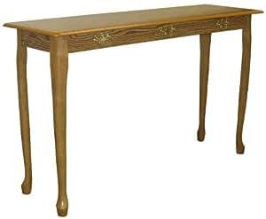 Crown Mark Q-Ann Sofa Table, Oak