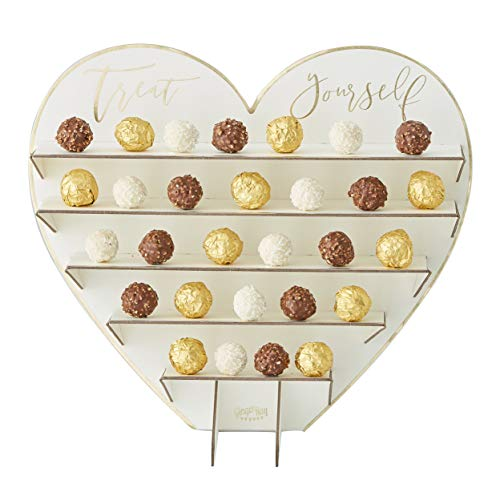 Baby Candy Shower Shaped (Ginger Ray 5 Tier Gold Treat Stand - Chocolates Cupcake Dessert Display Stand - Great for Wedding, Bridal Shower, Baby Shower and Birthday Party)