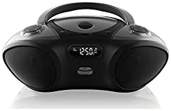 Ilive Boombox Bluetooth Speaker With Cd Player & Fm Radio (Black)