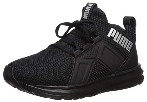 PUMA Baby Enzo Weave Sneaker, Black-Silver, 7 M US Toddler
