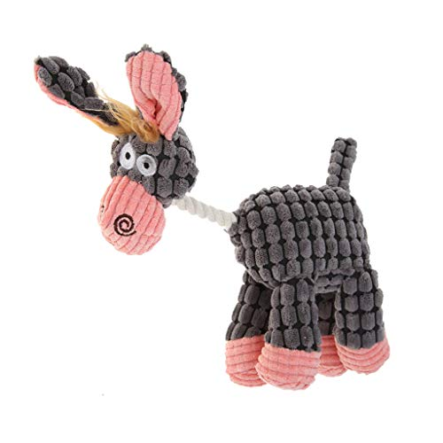 Glumes Dog Toys with Squeakers, Durable Plush Squeaky Dog Chew Toy, Crinkle Dog Toy for Medium and Large Dogs