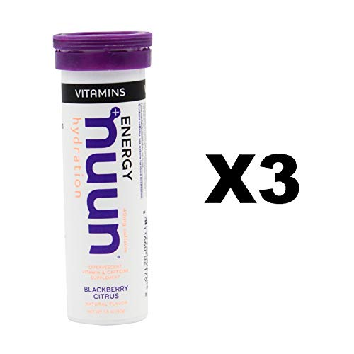Nuun Vitamins + Energy: BlackBerry Citrus Daily Supplement (3 Tubes of 12 Tabs)