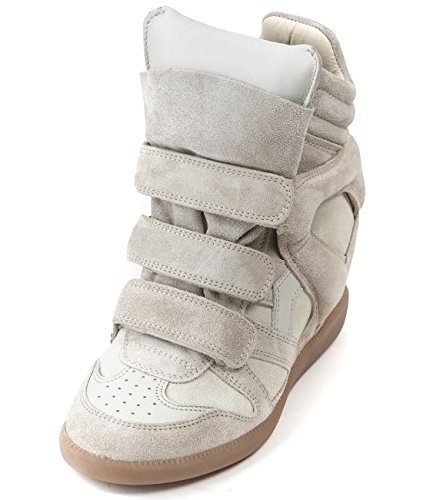 isabel-marant-womens-bekett-velcro-strap-suede-high-top-leather-sneakers-37-beige