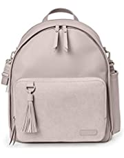 Skip Hop Diaper Bag Backpack: Greenwich Multi-Function Baby Travel Bag with Changing Pad and Stroller Straps