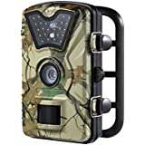 GranVela Trail Camera Night Vision, 12MP 1080P HD Hunting Camera with Passive Infrared, IR Flash, 2.4 inch LCD Monitor and 0.5s Trigger Speed for House Surveillance and Wildlife Observation.