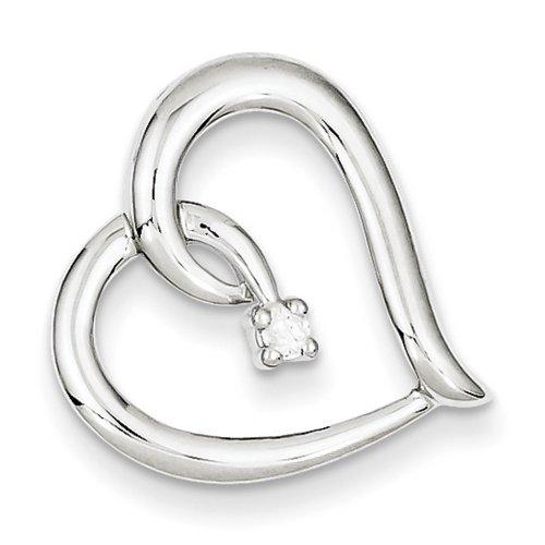 Icecarats Créatrice De Bijoux Sterling Pendentif Coeur De Diamant D'Argent