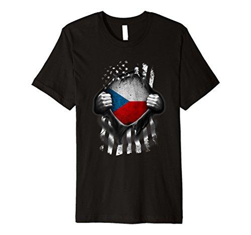 - Czech American Flag T Shirt. Czech Republic Heritage DNA