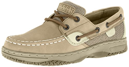 Sperry Bluefish Boat Shoe (Toddler/Little Kid/Big Kid),Linen/Oat,5.5 M US Big Kid