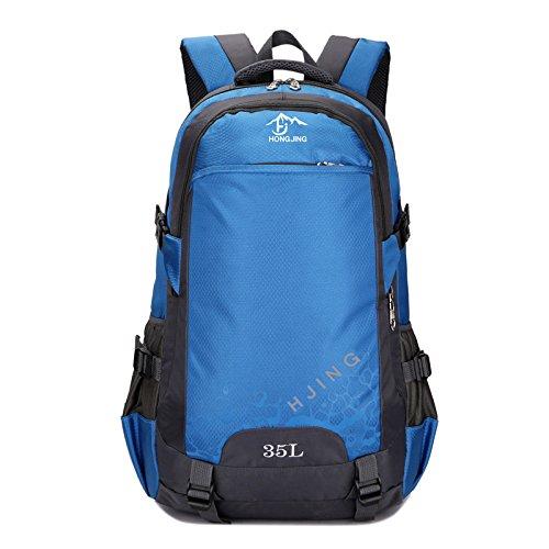 Mountaineering Bag Outdoor Männer und Frauen Schulter Rucksack wasserdicht Wanderpackage Bergsteigen Taschen , deep blue