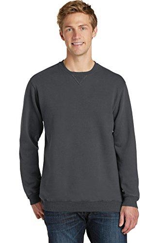 (Port & Company Essential Pigment-Dyed Crewneck Sweatshirt PC098 Coal Large)
