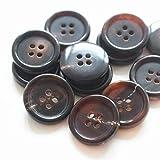 YaHoGa - Juego de 22 botones de bocina para Blazers Suits Coats de 15 mm 20 mm de color café natural para hombre (marrón)