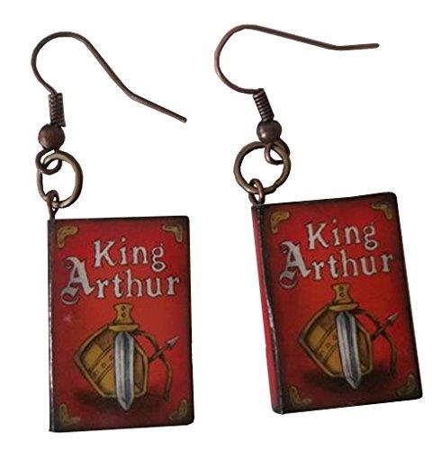 [King Arthur Story Book Dangle Earrings] (Homemade Childrens King Costumes)