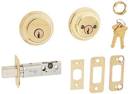 - Schlage B62N 505 Double Cylinder Deadbolt, Bright Brass