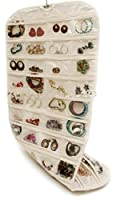 Brotrade Hanging Jewelry Organizer,Natural Canvas Ultra 80 Pocket Organizer For Holding Jewelries