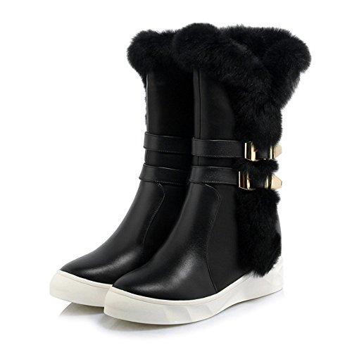 Shin Ken Women's Winter Faux Fur Lining Cozy Warm Water Resistant Lightweight Snow Boots (220, (220 Ken)