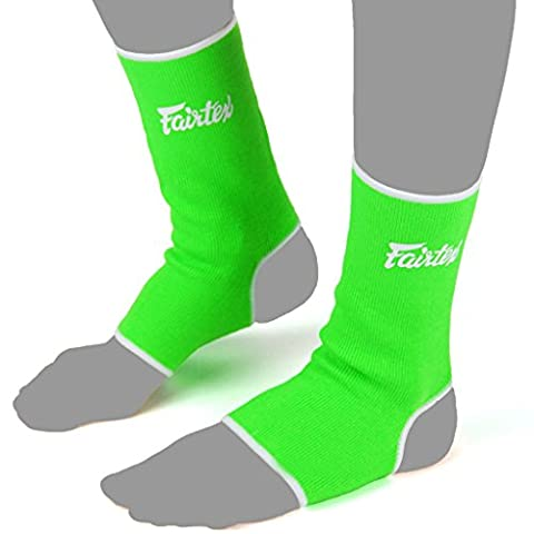 Fairtex Ankle Guard Thai Boxing Support Protector for Muay Thai, K-1, MMA, Boxing, Kickboxing Pink One Size (Green, One (Fairtex Muay Thai Ankle Supports)