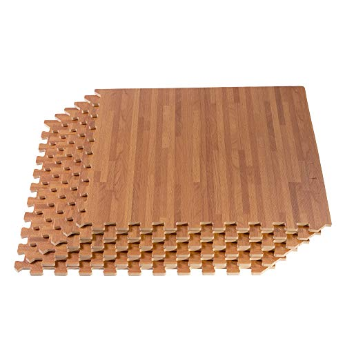 Forest Floor 5/8-inch Thick 80 Sq Ft (20 Tiles) Mahogany Interlocking Foam Floor Mats