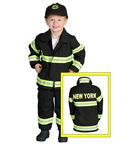 Award Winning Costumes For Kids (Aeromax Jr. NEW YORK Fire Fighter Suit, Black, 18 Months.  The best #1 Award Winning firefighter suit.  The most realistic bunker gear for kids everywhere.  Just like the real gear!)