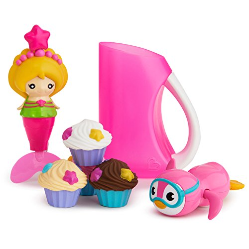 Munchkin Under The Sea Bath Toy & Shampoo Rinser Set (Toy Mermaid Bath)