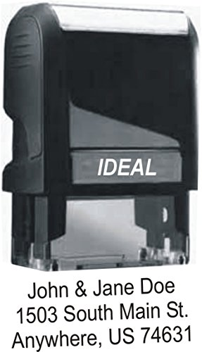 Custom Self Inking Rubber Stamp - Up to 4 Lines of Text - For Home or Office