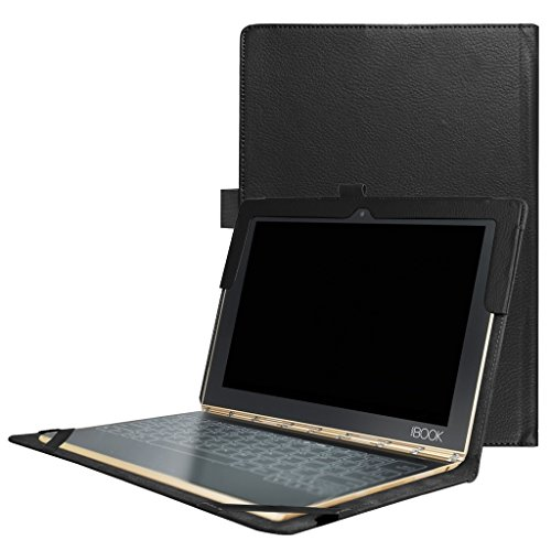 Lenovo Yoga Book 10.1 Case,Mama Mouth Slim PU Leather Cover for 10.1 Lenovo Yoga Book 2-in-1 Tablet,Black
