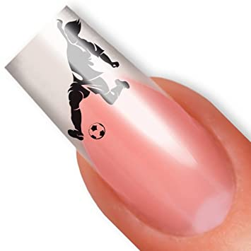 Amazon.com: Nailart NAIL TATTOO STICKER - soccer / sports - black: Beauty