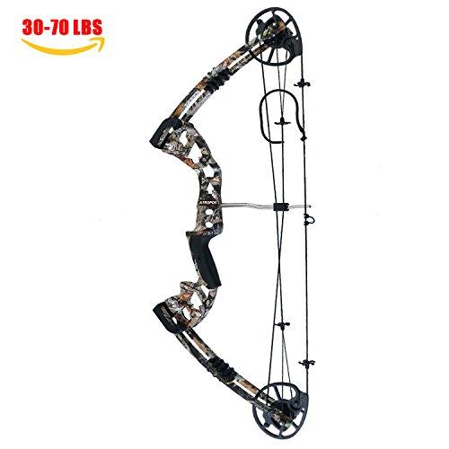 ATROPOS-125 Archery Hunting Compound Bow, 30-70lbs Draw Weight, Camo