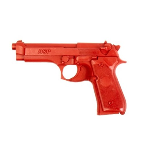 ASP Beretta 9mm/.40 Red Gun Replica for Training and Practice with Martial Arts, Defense, Props, Tactical, Law Enforcement, Military 07301
