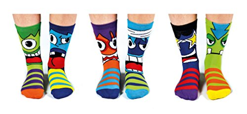 Mashers Box 6 Oddsocks For Boys US 13.5-7