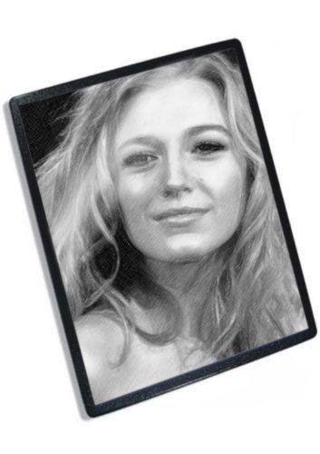 Original Signed Actress - BLAKE LIVELY - Original Art Mouse Mat (Signed by the Artist) #js001