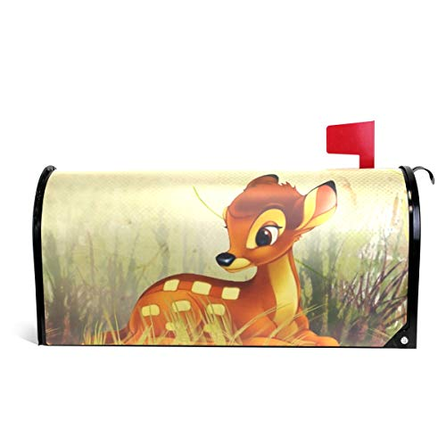 Ladninag Mailbox Covers Magnetic Fall Bambi Autumn Flowers Standard -