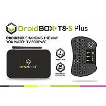 DroidBOX™ T8-S Plus V2 with i9 Mini-Keyboard Android 6.0.1 Powered Mini Computer SPMC/DBMC LibreELEC 17 Amlogic Smart TV BOX Chipset S905 GPU Mali-450 2GB RAM 32GB ROM 4K UltraHD HDMI 2.0a [W.i9]