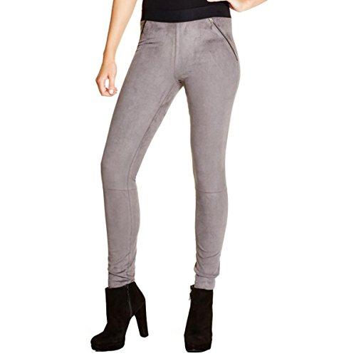 Top Elie Tahari Women's Roxanna Faux Suede Flat Front Leggings, Gray, XS free shipping