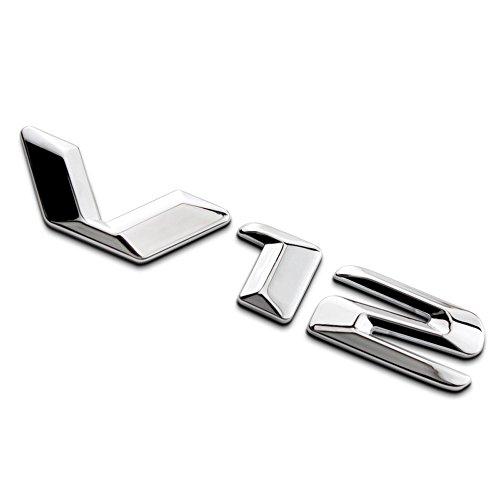 3D Metal V12 Car Side Fender Rear Trunk Emblem Badge Sticker Decals for Mercedes-Benz Maybach V12
