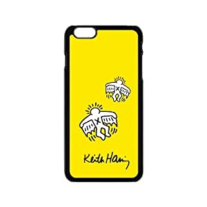 Canting_Good Custom Painted ZQ Keith Haring Yellow Case Cover for iPhone6 4.7 by lolosakes