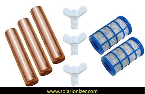 Replacement Remington Solar   Human Creations   Mananasun Compatible Anode (99.57% Copper-Silver)   3-Pack - www.solarionizer.com