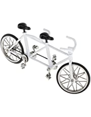 CUTICATE Tandem Bike Bicycle Model Home Workplace Office Decoration for Men Women Desk Ornament Novelty Game Collectibles