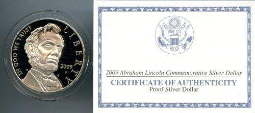 2009 Proof Lincoln Bicentennial Commemorative Silver Dollar