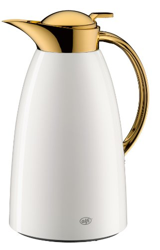 Alfi Vacuum Carafe Gusto, Arabic Design, for Tea/Coffee, White/Gold, 1l, 3529211100