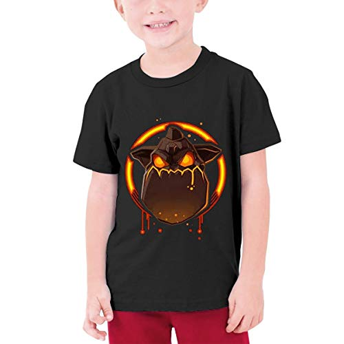 Mdaw232nda Inspired by Lava Hound Teenage Girls' Crew T-Shirts 100% Soft Cotton Short Shirts Tees Black Boy/Infant - Lava Hounds