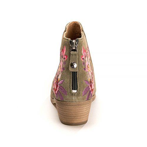 Bottine z Langham Bloom Suede Bircham Floral Joules Broderie Avec Khaki Embroidery Womens 0naTIUFwUq