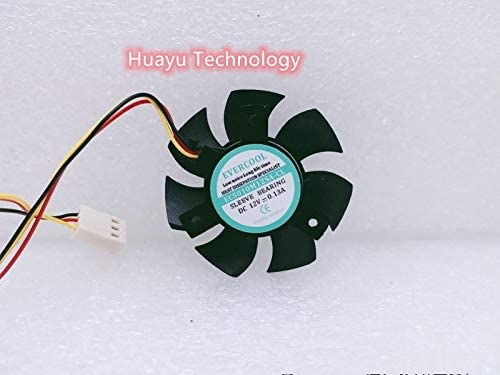 huayu for Czech Cold EVERCOOL EC5010M12SA-CL Graphics Fan Cooling Fan 12V 0.13A Double Ball