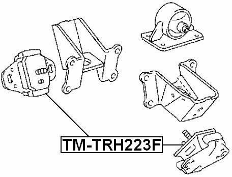 Amazon Com Front Engine Mount Febest Tm Trh223f Oem 12361 75100