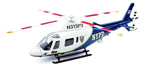 NEW RAY 25923 1/43 NYPD Austa A119 Koala Helicopter (New Ray Pilot)
